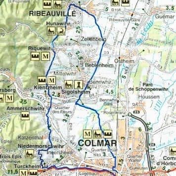 Circuit n 5 riquewhir et la route des vins cyclocolmar for Autour de bebe colmar houssen
